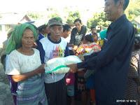 Baznas Kobi Salurkan 91 Paket Beras ke Warga Pembuat Batu Bata
