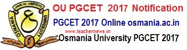 OUCET 2017 Online Application Form for MA, MSc, M.Com PG Admissions
