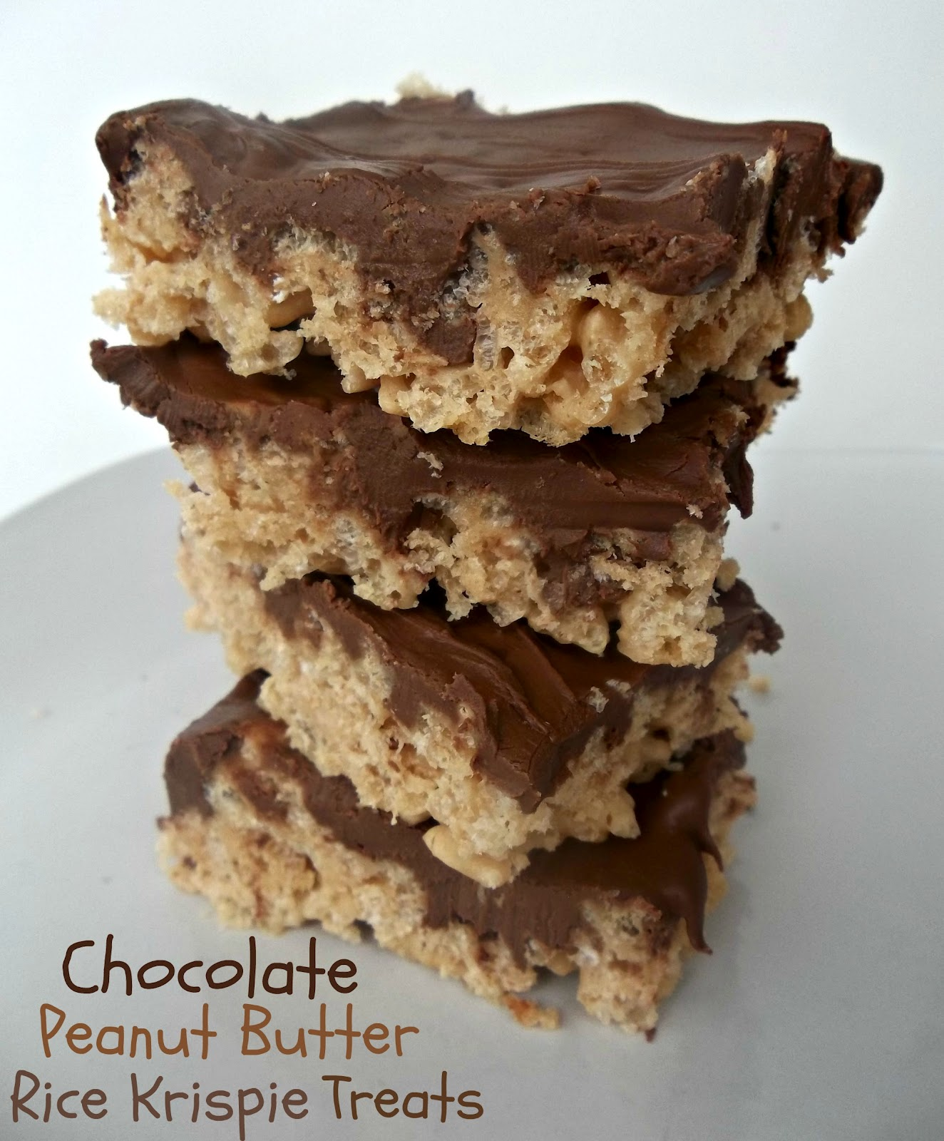 Peanut Butter Rice Krispie Treats Recipe / Six Sisters