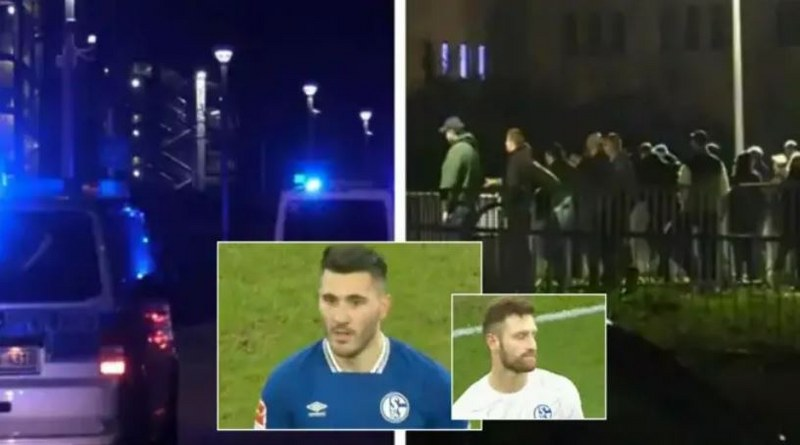 furious Schalke fans chase players down the street after relegation