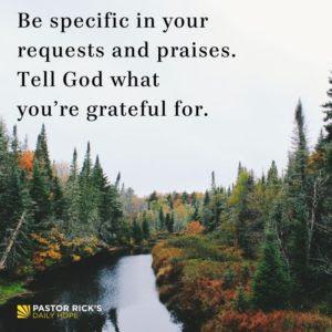 The Power of Grateful Prayers by Rick Warren