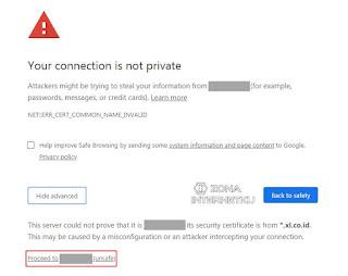 Cara Menghilangkan Your Connection Is Not Private Di Windows Dengan Mereload Webpage