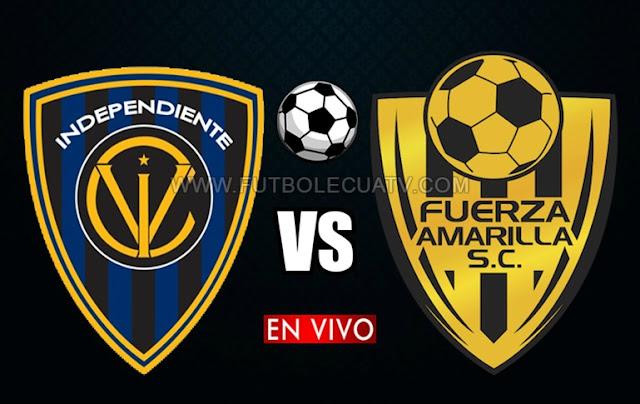 Independiente del Valle y Fuerza Amarilla chocan en vivo ⚽ desde las 19h15 horario local por la jornada veintitrés de la Serie A Ecuador a efectuarse en el Reducto Rumiñahui, siendo el árbitro principal Oscar Proaño con emisión del medio oficial GolTV.