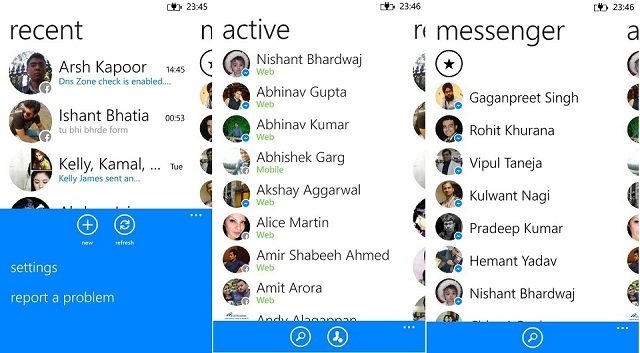 messenger windows phone 1