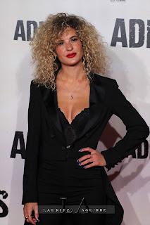 Shelia Casas, en la Premiere de Adiós