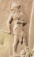 Vision of King Naram-Sin of Akkadians in his Viictoy Stele over Lullubi.