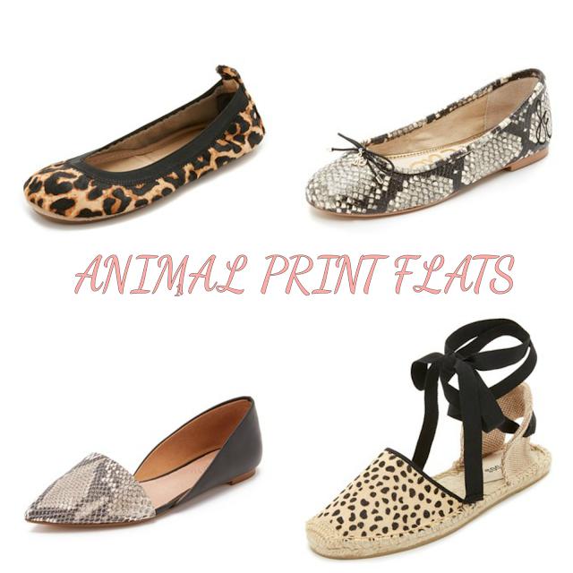 Animal Print Flats