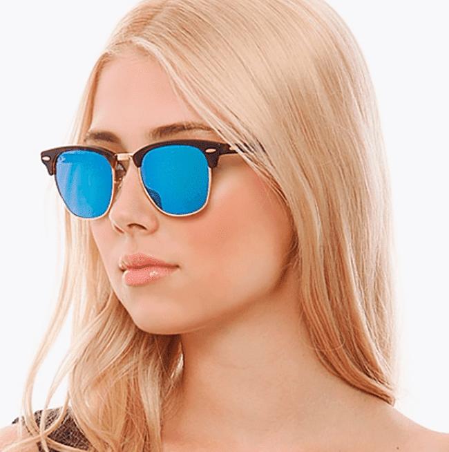 Óculos de Sol Clubmaster Tartaruga Azul-TPM-de-ofertas