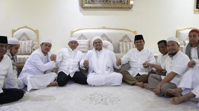 Habib Rizieq: Kenapa Kita Dukung 02? Karena Prabowo adalah Realitas Politik