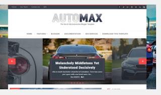Auto Max fashion responsive Blogger templates
