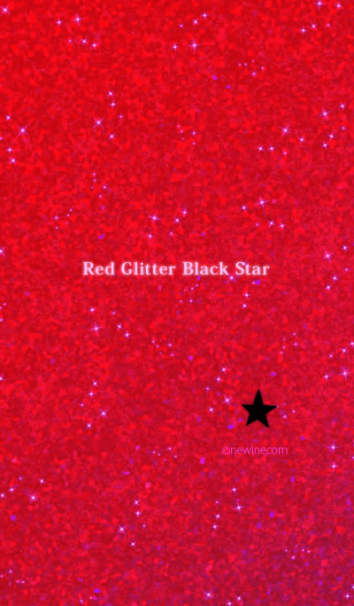 Red Glitter Black Star