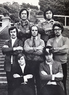 Quincy Conserve in 1970 Left to right, top to bottom Rufus Rehu, Dennis Mason, Johnny McCormick, Bruno Lawrence, Kevin Furey, Malcolm Hayman, Dave Orams