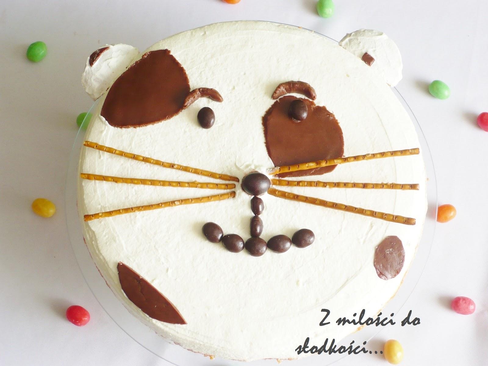 Z Miłości Do Słodkości Kotek Kubuś Tort Dla Dzieci Z Masą Kubusiową