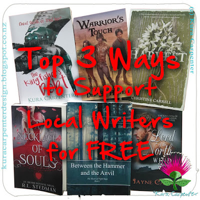 Top Three Ways to Support Local Writers for FREE