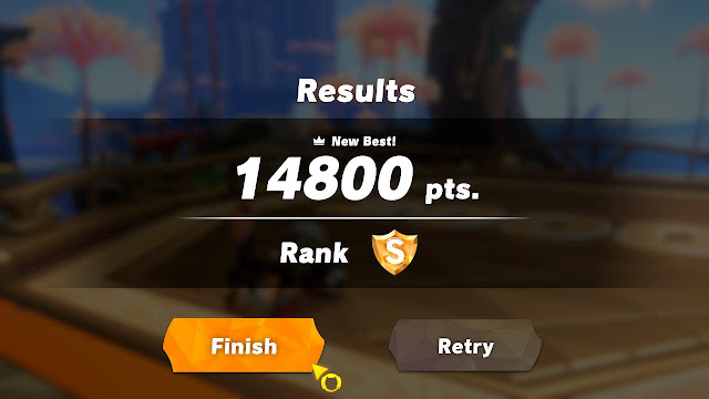 Ring Fit Adventure Thigh Rider Novice minigame perfect score 14800 points