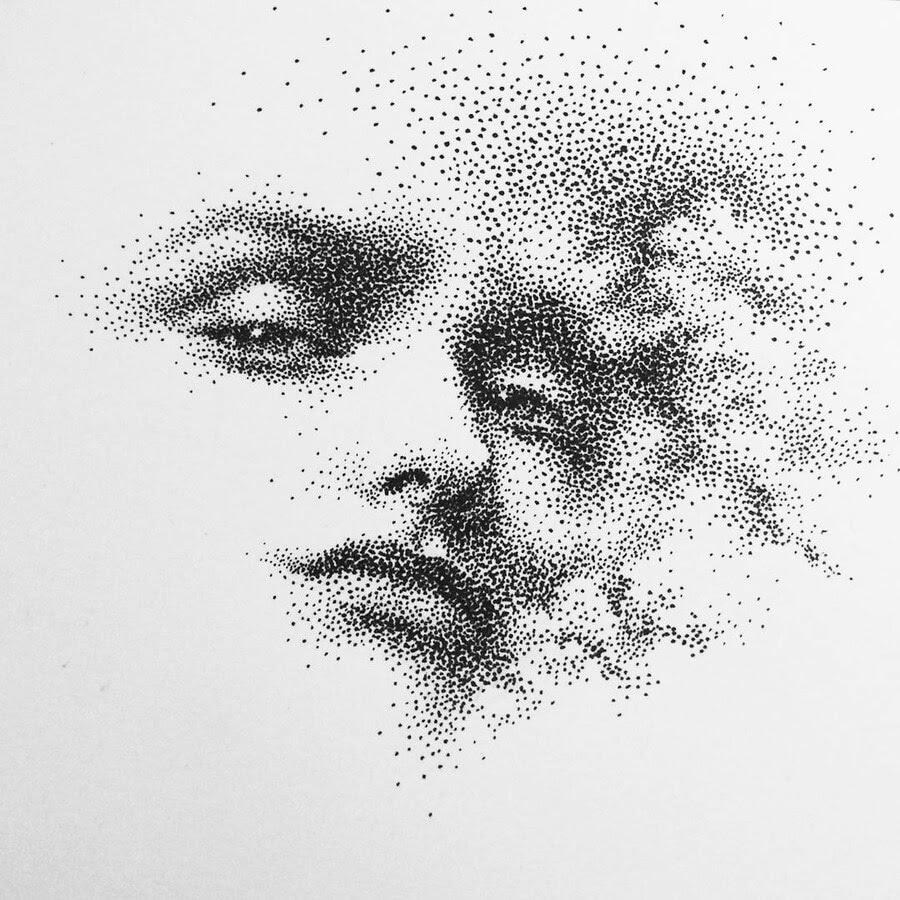 15-Minimalist-Portrait-Eric-Wang-Stippling-Drawings-www-designstack-co
