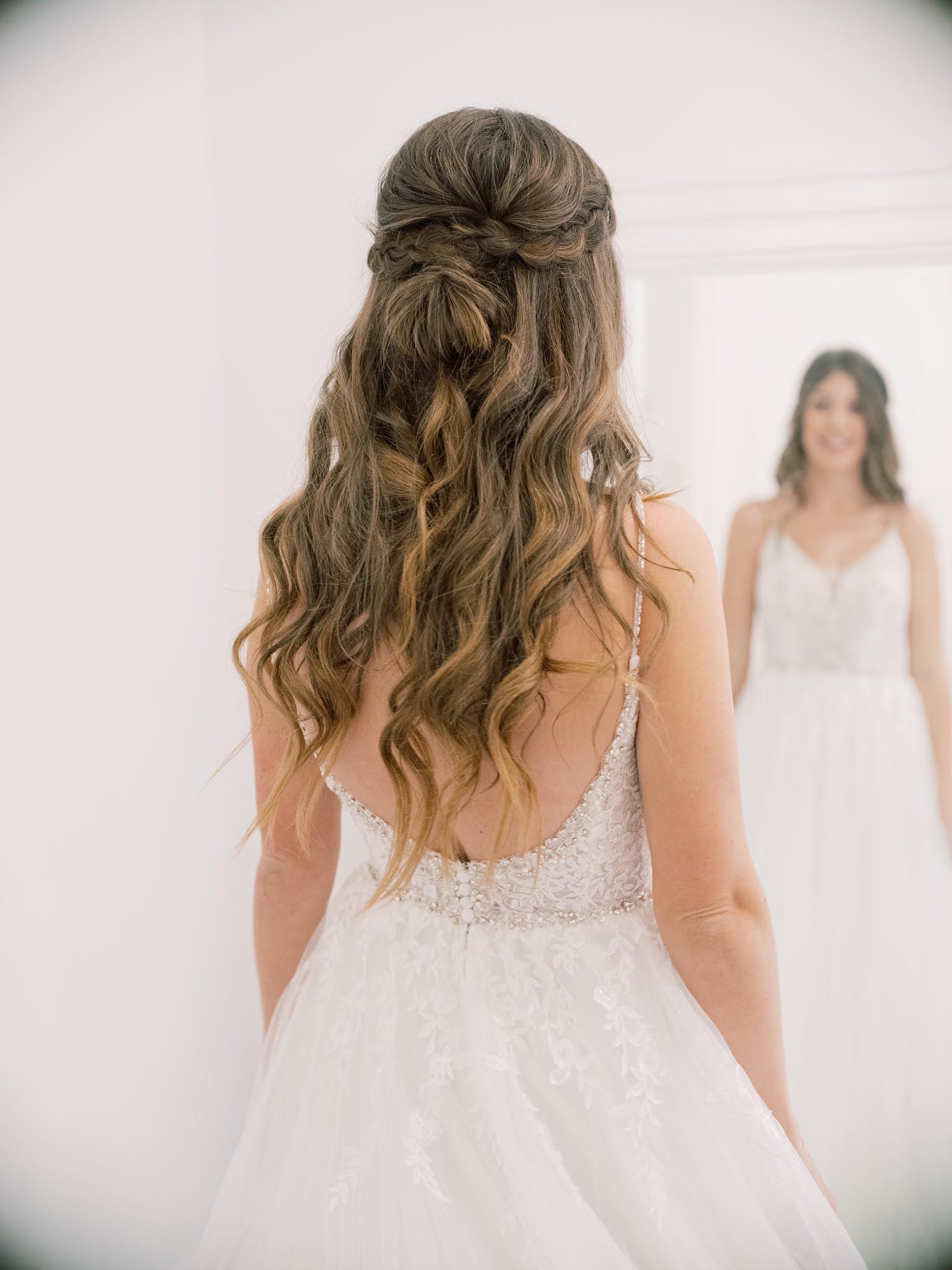 Charleston Wedding Hair Half Up - Chasing Cinderella
