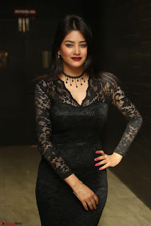 Actress Monica in spicy transparent Black Top at O Pilla Nee Valla Movie Audio Launch Feb 2017 090.JPG