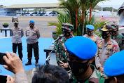 Kapolri Dampingi Panglima TNI Himbau Seluruh Jajarannya Tidak Mudah Terhasut Berita yang Belum Tentu Benar