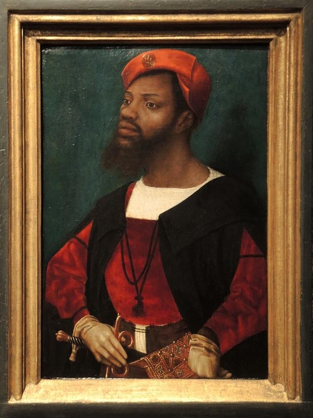 Portret van een Afrikaanse man door Mostaert