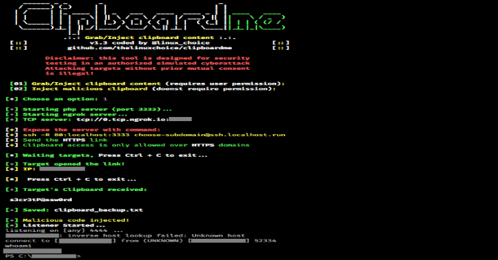Clipboardme : Grab & Inject Clipboard Content By Link