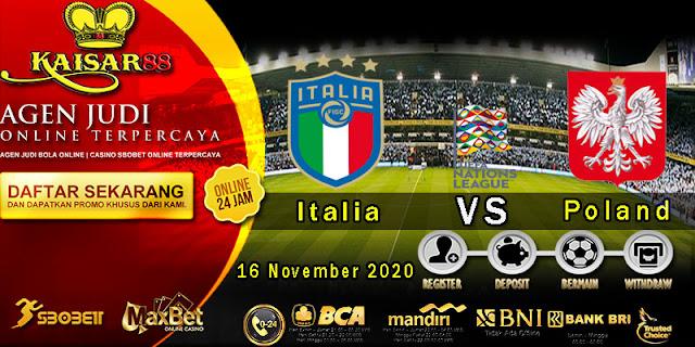 Prediksi Bola Terpercaya Ajang UEFA Nations Italy vs Poland 16 November 2020