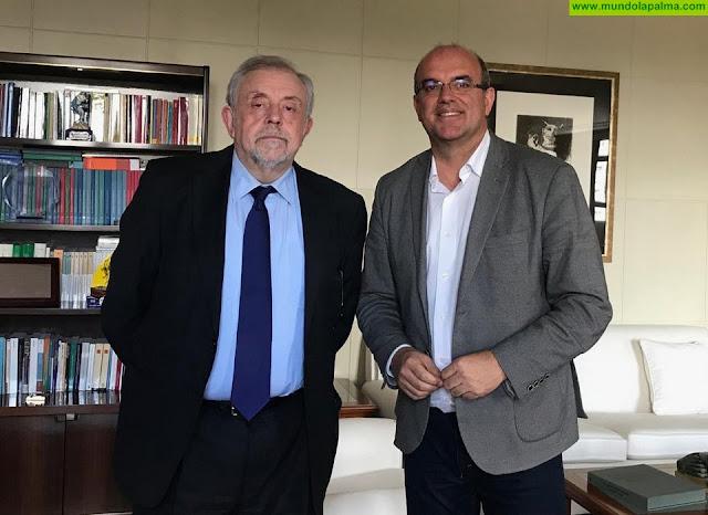 El Cabildo se reúne con el Gobierno de España para desbloquear el proyecto del antiguo Hospital de Las Nieves
