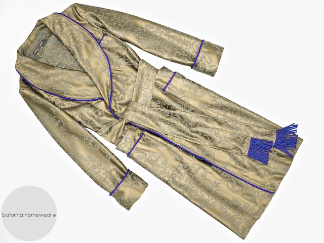 mens paisley silk dressing gown robe smoking jacket