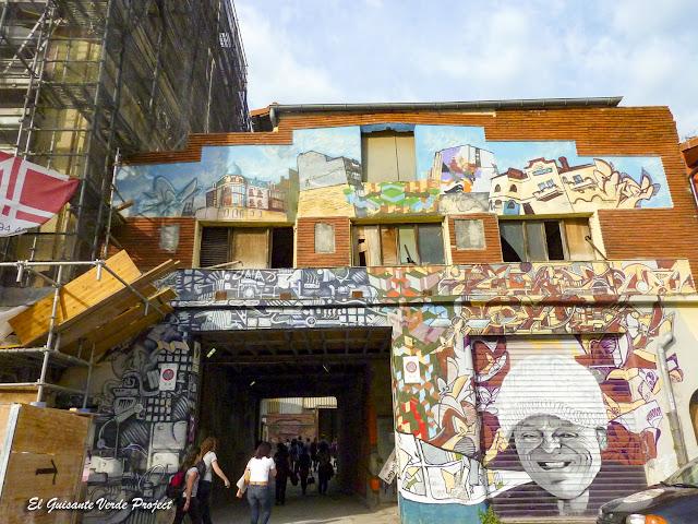 Murales entrada ZWAP, Zorrozaurre - Bilbao, por El Guisante Verde Project