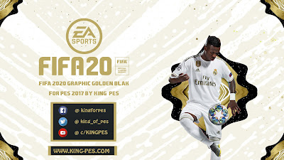 FIFA 20 Graphic Golden Black Graphic Menu for PES 2017