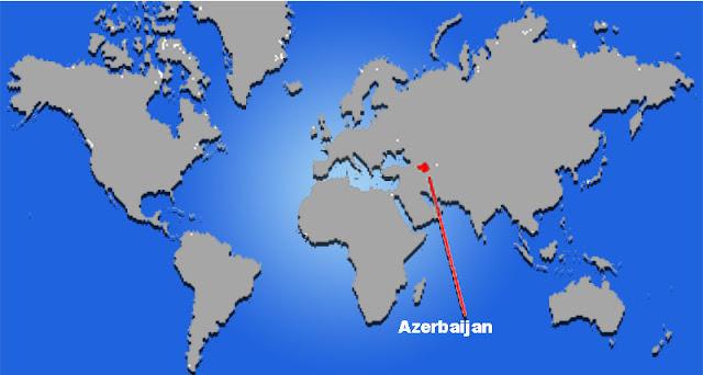 Gambar Peta letak Azerbaijan