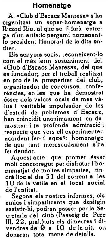 Recorte de El Día (Manresa), 24/12/1932