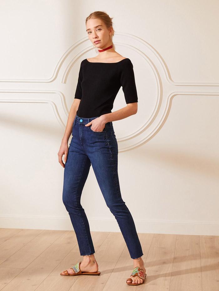 pantalon de jean chupin moda denim 2021