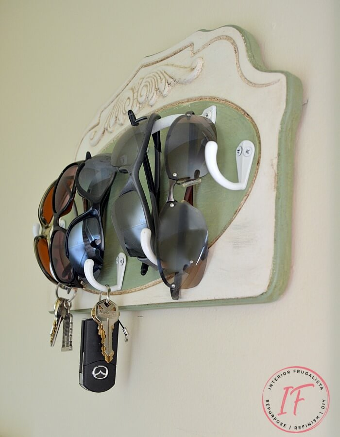 Easy DIY Key And Sunglasses Holder
