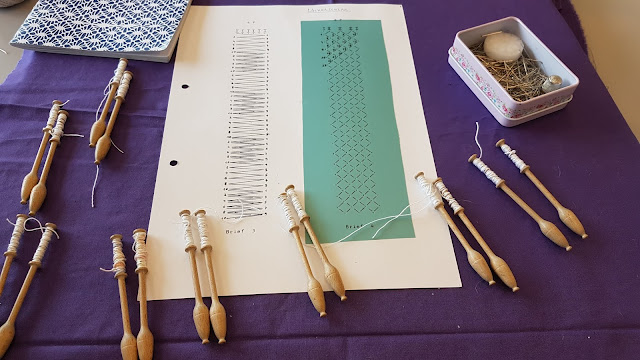 bobbin lace auris lothol hand made lace making