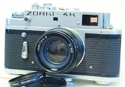 Zorki-4K, Jupiter 8 50mm F2, Side front view