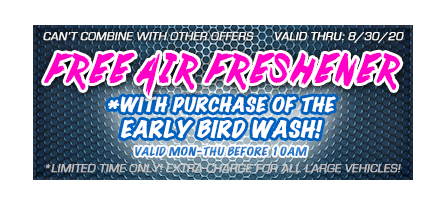 Coupon to get a free air freshener when buying the early bird special