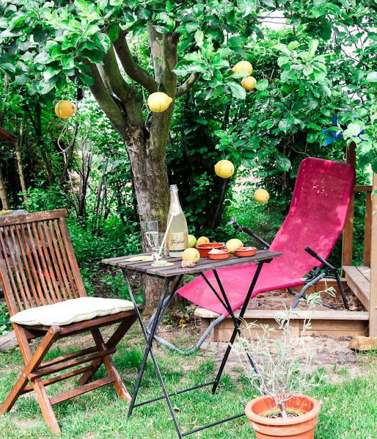 Zitronen im Apfelbaum mit Tapas und Freixenet