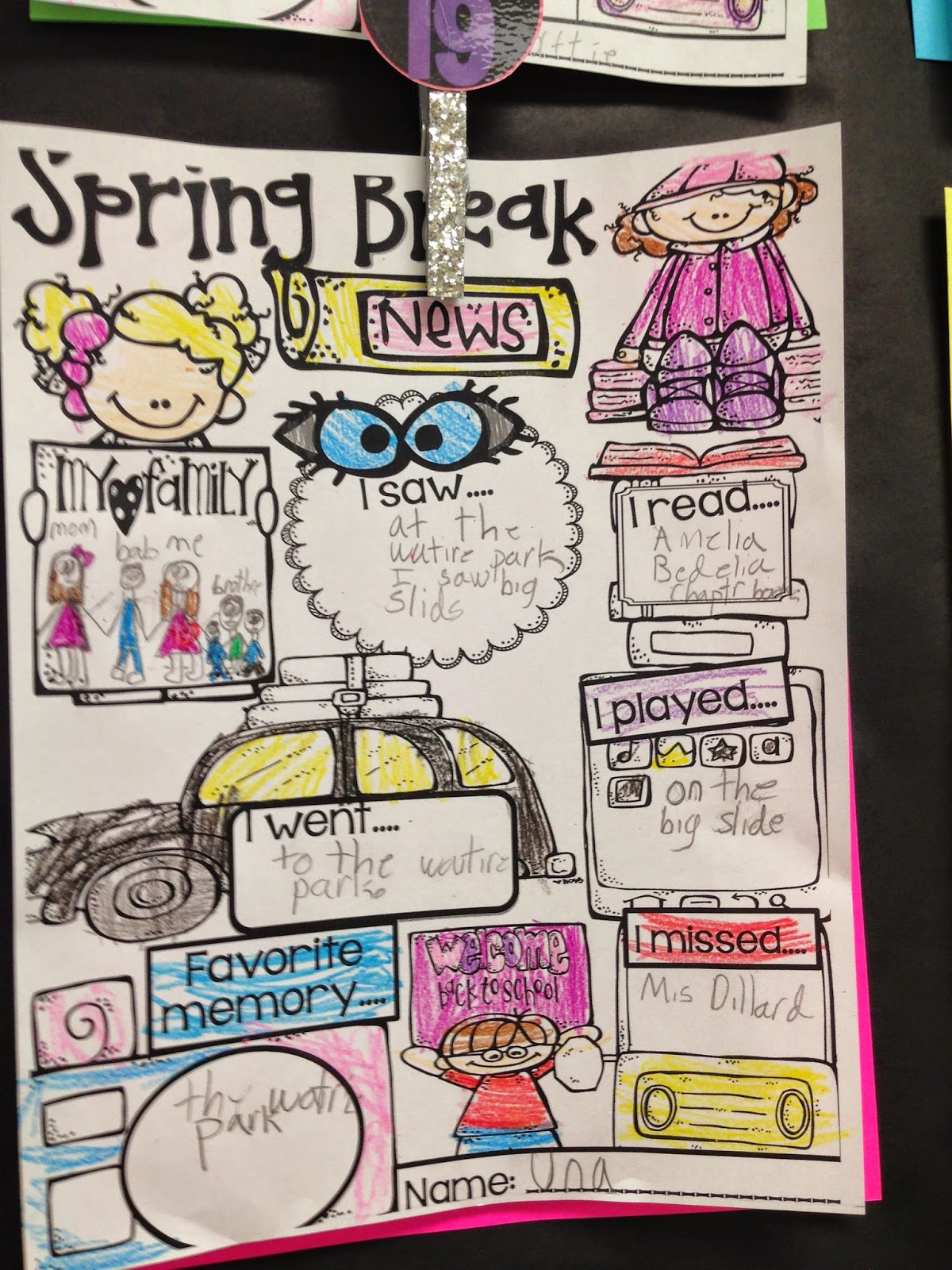 Freebielicious Spring Break Writing