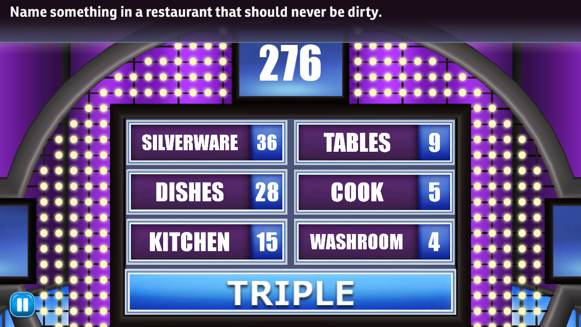 Family Feud and Friends Game Answers Revealed!: Name something in a ...