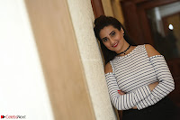 Manjusha in sleevelss crop top and black skirt at Darshakudu pre release ~  Exclusive Celebrities Galleries 027.JPG