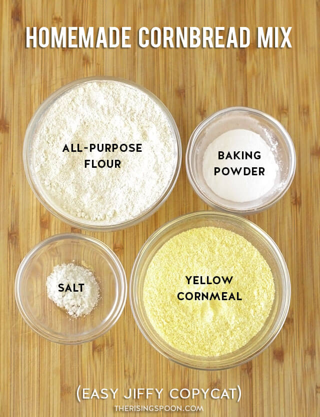 Simple Pantry Ingredients For Homemade Cornbread Mix