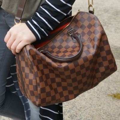 Louis Vuitton Damier Ebene 30 speedy bandouliere | Away From Blue