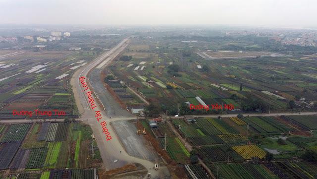 Trục hướng tâm Tây Thăng Long giao cắt với nhiều tuyến đường trên địa bàn quận Bắc Từ Liêm