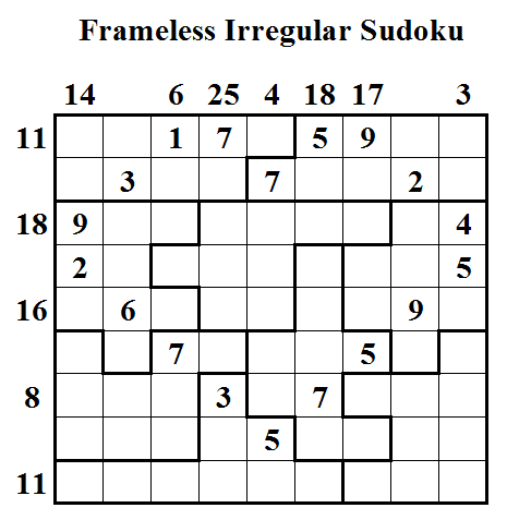 Frameless Irregular Sudoku