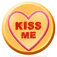 Kiss Me text on Love Heart sweet free image for texting