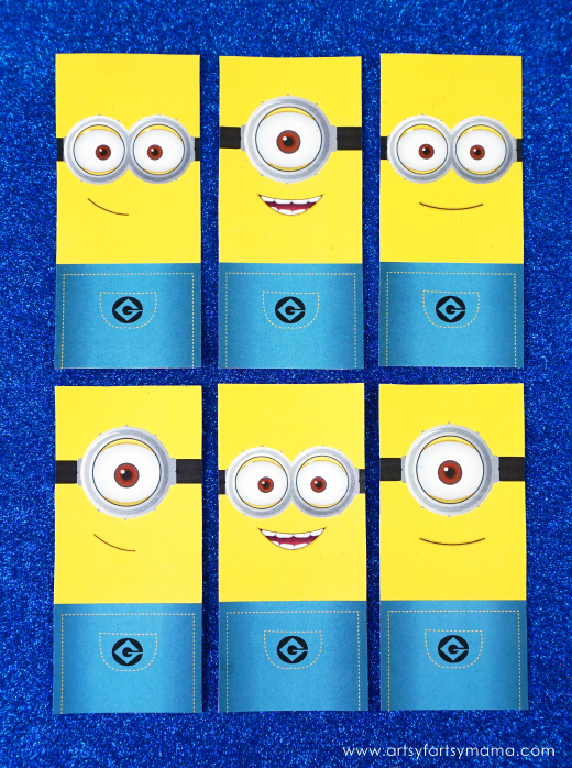 graphic regarding Minion Printable Free referred to as No cost Printable Minion Bookmarks artsy-fartsy mama