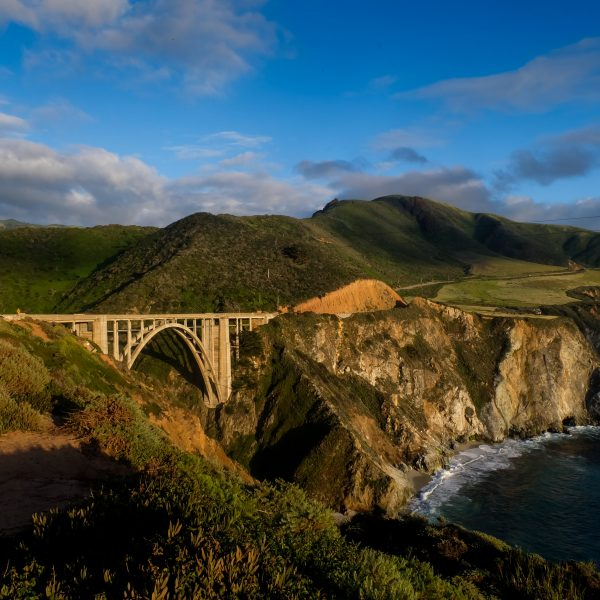 Marc Silber's front shot of the Bixby Bridge with the changing light source.