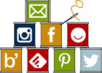 Social Media Spools Icons Designed by Thistle Thicket Studio. www.thistlethicketstudio.com