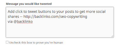 seo copywriting: click to tweet